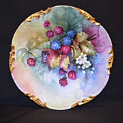 SALE Delicious Hand Painted Blackberries ~ Limoges Porcelain Plate ~  Jean Pouyat Limoges ...