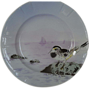 SALE Delightful French Faience Plate ~ Hand Decorated with Colorful Seashore Bird ~ Keller & .