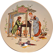 SALE Wonderful French Faience Character / Story Plate  or Plaque ~ Man Reading / Writing ...