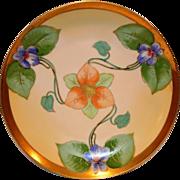 SALE Gorgeous Violet Art Nouveau Plate ~ Limoges Porcelain ~ Hand Painted by Lamour ~ ...