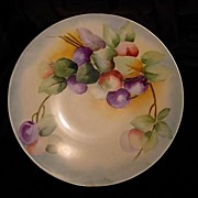 SALE Beautiful Limoges Porcelain Plate Hand Painted with Purple and Green Plums – Jean Pouya