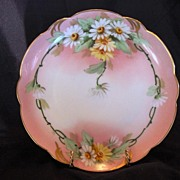 SALE Charming Pickard Studio Decorated ~ Bavarian Porcelain Cabinet Plate ~ Hand Painted with