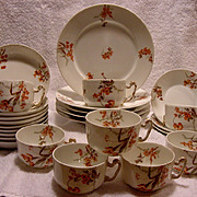 SALE Wonderful DINNER/ DESSERT SET (26 Pieces!) ~ Limoges Porcelain ~ Factory Decorated with .