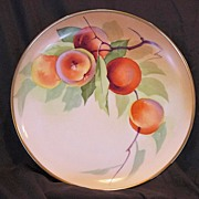 SALE T. Luc's Delicious Looking Limoges Porcelain Cabinet Plate ~ Hand Painted with Ripe Pea