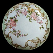 "SALE Large 12 3/4"" Limoges Porcelain Wall Plaque/ Charger / Cabinet Plate ~ Hand Painted"
