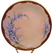 SALE Lovely Pickard Studio forget-me-nots Cabinet Plate ~ Hand Painted and signed by Zuie Mc C