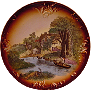 SALE Scenic German Wall Plaque ~ By Franz Anton Mehlem 1836-1920