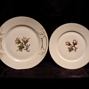 SALE 2- Very Old Beautiful Limoges Porcelain Plates ~ Studio Decorated ~ Moss Ross Pattern ...