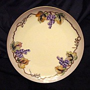 SALE Decorative Porcelain Plate Hand Painted with Purple Grape Clusters – MZ Austria (Moritz