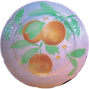 SALE BEAUTIFUL Antique French Majolica Faience Plate with Oranges ~ St Clements, France  early