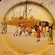 """SALE """" Hard to Find""""  Royal Doulton's Coaching Days Series Plate~  D2716 Scene #13~ """"H"""