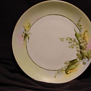 SALE Beautiful Bavarian Porcelain Plate ~ Caines Studio Decorated with Lily of the Valley's