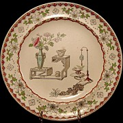 SOLD Beautiful Aesthetic / Japonesque Earthenware Plate – Copeland 1850-1867