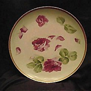SALE Limoges Plate Hand Painted, Signed  Red Roses – Latrille Freres ca 1908-1913