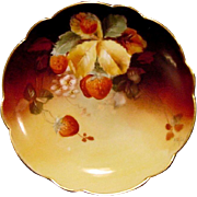 SALE Incredible Limoges Plate Hand Painted with Ripe Strawberries by Pickard Studio Artist ...