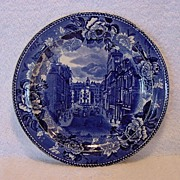 SALE Commemorative Plate ?State St and the Old State House in Boston, 1888 ~ Wedgwood ...