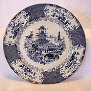 SALE Awesome English Deep Blue Transferware with Oriental Design ~ Charles Allerton & Sons