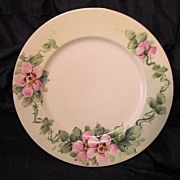 SALE Beautiful Limoges Porcelain Plate Hand Painted with Pink/White Wild Roses – Plainemaiso