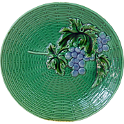 SALE Bright & Beautiful German Majolica Grape Plate ~ ZELL United Ceramic Factories - GEOR