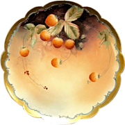 """SALE Outstanding Porcelain Limoges Cabinet Plate Decorated by Pickard Studio Artist """"C ..."""
