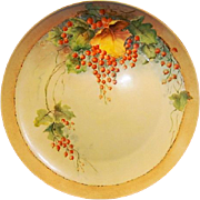 "SALE Awesome Bavarian Porcelain Charger 12 5/8"" ~ Hand Painted with Currants ~ F ..."