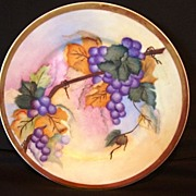 """SALE Handsome Limoges Porcelain """"Vellum"""" Cabinet Plate / Charger ~ Hand Painted with Purpl"""