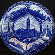 "SALE Fantastic Staffordshire Rolled Edge Souvenir Plate ~ ""Souvenir of Toronto City Hall~ .."
