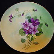 "SALE Stouffer Studio Decorated ~ Limoges Porcelain Cabinet Plate ~ Hand Painted by ""Pfohl"""