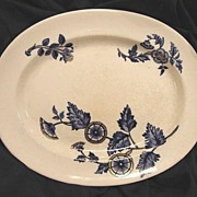 "SALE (2)Oval PlatterS- COPELAND FLOW BLUE - ""Ashburne"" Pattern -1850-1867"