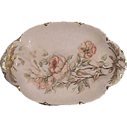 SALE Lovely Limoges 13 1/2'' Platter ~ Hand Painted with Smokey Peach and White ...