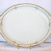 SALE Amazing Austrian Porcelain Platter With Blue and Gold Decorations ~ Victoria Austria ~ 19