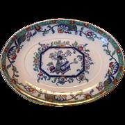 SALE Colorful English Earthenware Platter ~ Asian Design ~ Ashworth England 1862-1890