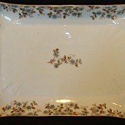 SALE Wonderful Old Haviland Limoges Platter / Tray ~ Factory Decorated with Blue Flowers and .