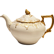 SALE Elegant Teapot ~ English China ~ Royal Crown Derby ~ Gold Vine Pattern A775  ~ England 19
