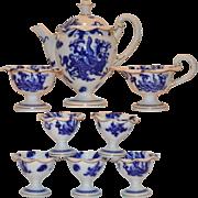SALE Gorgeous  Aesthetic Movement Tea or Coffee Pot Set ~ Pot, Creamer, Sugar & 5 ...