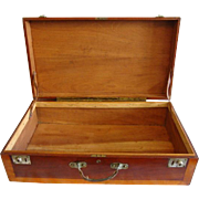 "SALE Wooden Storage Chest /  Suitcase / Box ~Fantastic LARGE 28"" Hand Crafted~ Mahogany a"