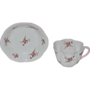 SALE Shelley Bone China Cup & Berry Bowl ~ Rose Spray / Bridal Rose Pattern 13545~ Dainty ...