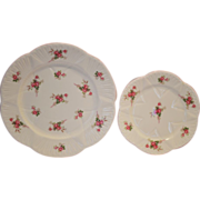 "SALE Shelley Bone China 8"" & 6"" Plates ~ Rose Spray / Bridal Rose Pattern 13545~ Dainty .."