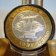 SALE Casino gaming token, .999 fine silver. 1994 Flamingo Hotel