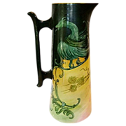 """SALE Fantastic 15"""" Belleek Tankard Hand Painted with Dragon and Berries ~ Willet Belleek  .."""
