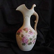 Beautiful Austrian Ewer / Vase~ Decorated with Wonderful Pink Flowers~  Robert Hanke - Austria