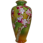 SALE Nice Porcelain Vase ~ Hand Painted with Oriental Plum Blossom on Branches