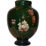 SALE Rare Haviland & Co terra cotta pottery vase. Impressionist Art Pottery by Auteuil Studio