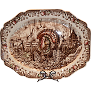 "SALE Wonderful Turkey Platter ~ 20 1/2"" ""His Majesty"" ~ Pat'n Pending ~ ..."