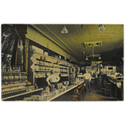 Postcard Interior Busjahn and Schneider Drug Store - Logansport, Indiana