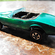 Original Mattel Hot Wheels Redline 1967 Green Custom Firebird Convertible