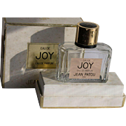 SALE Boxed Perfume Bottle Joy Parfum by Jean Patou Empty FREE Shipping