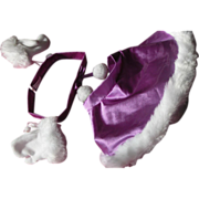 SALE Doll Cape Head Band Gloves Faux Fur Purple Medium Doll