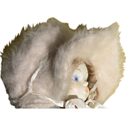 SOLD Baby Doll Hat Real Mohair Soft in Great Condition