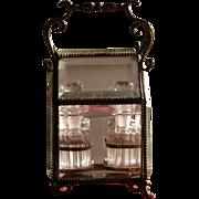 SALE French Perfume Bottle Set Four Bottles in Beveled Glass Box